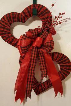 Diy Valentines Day Wreath, Valentines Day Decorations, Valentine Day Crafts, Valentine Ideas, Printable Valentine, Homemade Valentines, Valentine Box, Wreath Crafts, Diy Wreath