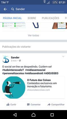#tudointeresseloT #midiasemsocial #redesemsocial #personalizacoisa #midiasandroid #ADEUSSEO
