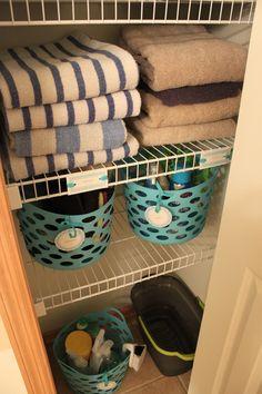 dollar store bathroom organizing | crazy craft lady