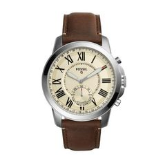 Fossil Q Q Grant Hybrid Smartwatch - Men Wrist Watch on YOOX. The best online selection of Wrist Watches Fossil Q. Smartwatch, Fossil Q, Fossil Watches, Men's Watches, Dress Watches, Sport Watches, Watches For Men, Smartphone, Skeleton Watches