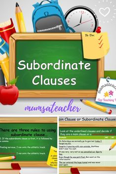 A subordinate clauses powerpoint, that will help you to teach a child how to use one correctly. English Spelling, English Grammar, English Literature, New Teachers, Educational Games, Teaching Resources, Children, How To Make, Blog