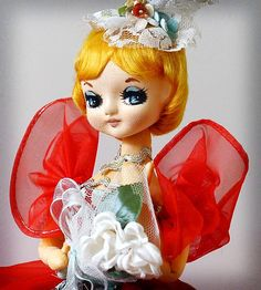Vintage Pose Doll Bradley Big Eye Mod 1960's Christmas Queen Pixie Japan Japanese