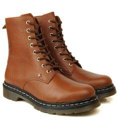 Coturno Feminino Cravo e Canela Wisky - Black Boots - BlackBoots