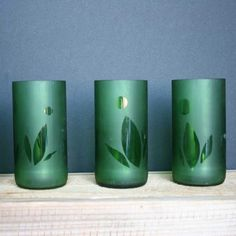 Green Gifts:  Glasses Made from Salvaged Beer Bottles