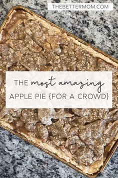 The Most Amazing Apple Pi / #Amazing #Apple Perfect Apple Pie, Apple Pie Recipes, Apple Pies, Pumpkin Recipes, Recipe Sheets, Recipe Generator, Recipe From Scratch, Feeding A Crowd, Great Recipes