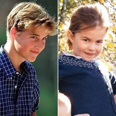 This photo shows Princess Charlotte's resemblance with her father Prince William. Charlotte is Daddy's girl. Prince William Family, Prince William And Catherine, George Of Cambridge, Duchess Of Cambridge, Lady Diana, Kate Middleton Family, Royal Family Portrait, Prinz William, Prinz Harry