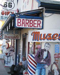 Route 66, Seligman barber shop, az | 77b Seligman AZ - Delgadillo's Barber Shop & Route 66 Gift Shop ...
