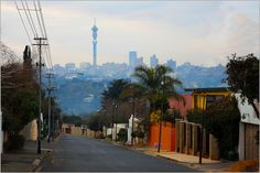 Melville, Johannesburg - South Africa Situated in one of the northwestern suburbs of Johannesburg, Melville is a Bohemian community offering fantastic views of the Joburg skyline Johannesburg City, What Inspires You, Cape Town, Places Ive Been, South Africa, Skyline, Community, Cityscapes, Nostalgia