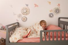 love the bed and pink/grey colours