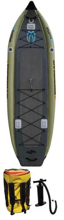 And the best inflatable fishing SUP is . . . the Badfisher
