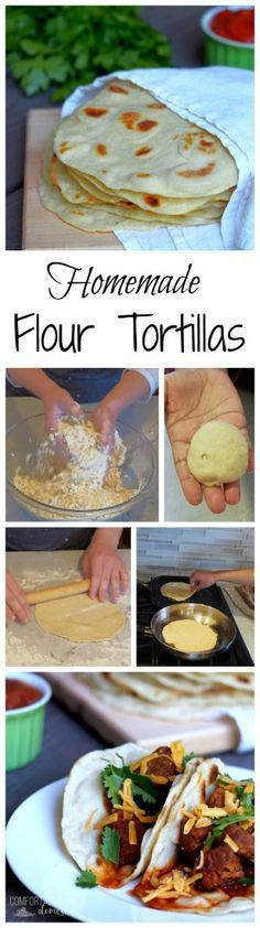 Soft and delicious Homemade Flour Tortillas are a snap with this authentic step-by-step recipe tutorial. - Comfortably Domestic @comfortdomestic