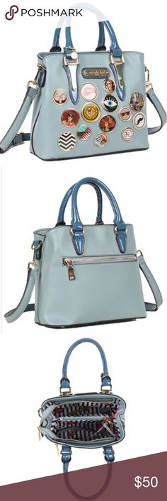 MARRII BUTTON HADBAG Flaunt fun and chic style with this cool Nicole Lee  Marrii Button Handbag 93b96a727a955