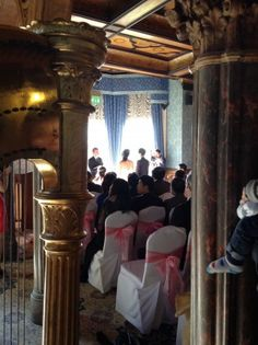 Wedding harpist Michelle Dalton performs at Highbury Hall in Moseley for a beautiful wedding ceremony