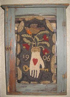 hand- hooked rug