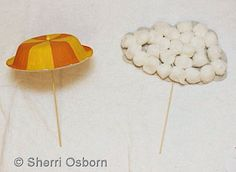Modify these a little bit and they could make cute decorations or centerpieces for a baby or wedding shower.