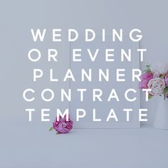 Wedding or Event Planner Contract Template  from The Contract Shop #contractsforcreatives #legaltips #smallbusinesscontract #contracttemplates #thecontractshop #creativebusiness #weddingplannerbusiness #eventplannerbusiness