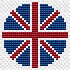 UK Biscornu free cross stitch pattern