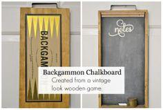 Backgammon chalkboard www.homeroad.net