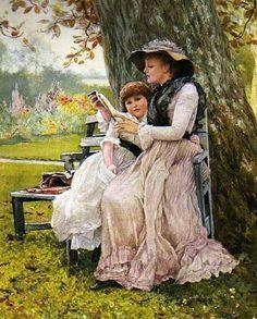 Edward Killingworth Johnson (UK 1825-1896) SummerDays, 1884, watercolor