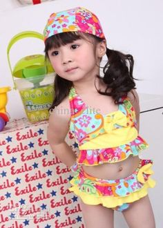 Wholesale Girls Swimwear with Hat /Cap Kids Swimsuits Kid Tankini Baby Girl Bilini Bather Bathing Costume Suit, Free shipping, $9.72-10.34/Set | DHgate