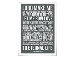 St. Francis of Assisi Prayer Art Print. 60 Colours/3 Sizes. Inspirational Christian Poster. Spiritual Quote * Check out this great product.