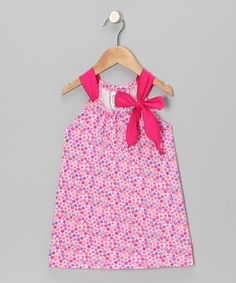 This Pretty Pink & Purple Floral Swing Dress - Infant, Toddler & Girls by Mulberribeach
