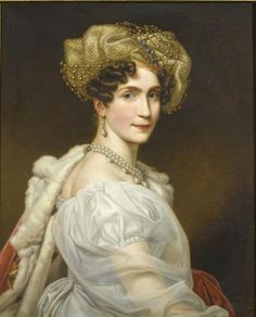 Princess Augusta Amelie of Bavaria, Duchess of Leuchtenberg as wife of Eugene de Beauharnais, Duke of Leuchtenberg, son of Empress Josephine by her first marriage. Her daughter Josephine became queen consort of Sweden; her daughter Amelie, empress of Brazil; her daughter Theolinde, duchess of Urach. Her son Maximilian married the daughter of Nicholas I of Russia; her son Auguste, Maria II of Portugal.