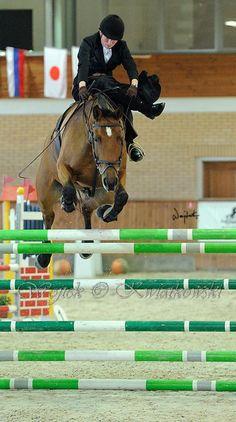 """Brava"" and Aleksandra Nowicka  beating Polish record  in high-jump in side saddle (145 cm)  Janow Podlaski 2010  Amazing !"