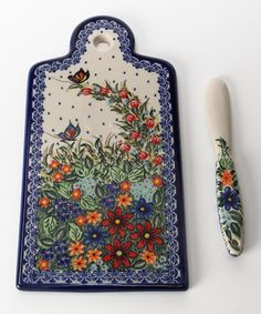 Cheese Board and Spreader - Polish Pottery by European Design