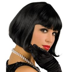Una peluca idónea para un disfraz años 20, de www.fiestafacil.com . $8.90 / An ideal wig for a 1920s party, from www.fiestafacil.com