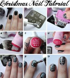 Fashion Love: GLITTER CHRISTMAS NAILS (+ MEIN ERSTES STAMPING TUTORIAL)