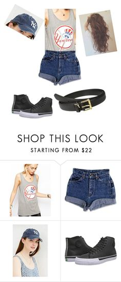 """Play Ball!!"" by angie-is-the-boss ❤ liked on Polyvore featuring '47 Brand, Urban Outfitters, PF Flyers and Lauren Ralph Lauren"