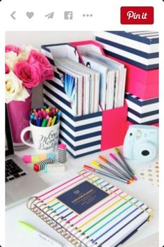 Magazine + Notebook Organizer | Spring Organization Organizing Ideas for Bedrooms | DIY Storage Ideas for Teens Room Decor