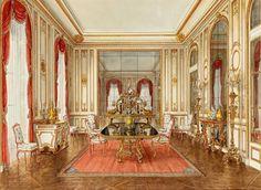 Alexander Serebryakov 'The dining room of the Duke and Duchess of Windsor on the Boulevard Suchet, Paris'