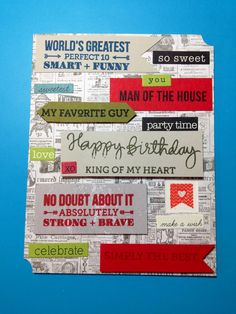 husband birthday card diy | Birthday card for my husband Avery Elle, Wplus9 stamps and stickers