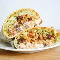 Spicy Bean And Rice Burritos: Kick up the classic burrito fillings with some spice. - Mexican Food Recipes, Vegetarian Recipes, Cooking Recipes, Healthy Recipes, Vegetarian Burrito, Veggie Burrito, Kitchen Recipes, Cooking Tips, Mexican Desserts