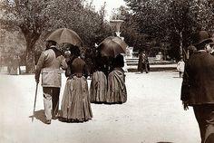 El parque del Retiro. 1895. Madrid.