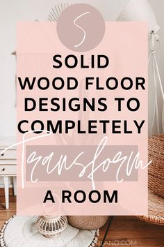 Ready to transform your room? Here are 5 different solid wood floor designs to transform ANY room you're re-decorating! Click to read more! <3 #flooringideas #interiordesign #interiordesignkitchen #interiordeisgnlivingroom #livingroomdesigns #livingroomideas #kitchendesigns #bedroomdesigns #interiordesignideas #LaminateHardwoodFlooring Laminate Hardwood Flooring, Solid Wood Flooring, Grey Flooring, Flooring Sale, Types Of Flooring, Grey Wooden Floor, White Painted Floors, Wood Floor Design, Room Paint Colors