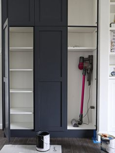 """Get great pointers on """"laundry room storage diy cabinets"""". Get great pointers on """"laundry room storage diy cabinets"""". They are actually accessible for you Kitchen Pantry Design, Kitchen Pantry Cabinets, Diy Cabinets, Kitchen Storage, Garage Storage, Vacuum Storage, Laundry Storage, Wall Pantry, Pantry Diy"""
