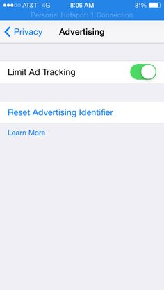 how do i stop ad tracking on my iphone