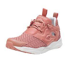 REEBOK Furylite woven sneaker Women s low top shoe Cut outs on side of  kicks for ventilation Cushion. True to size b83398ca0