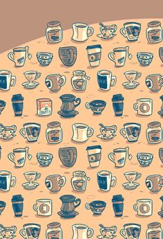 Coffee & Tea & Butts Art Print | Jordan Walsh