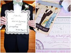 vintage great gatsby wedding invitation