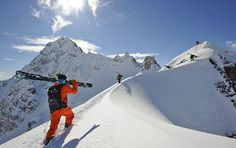 Heli-skiing in the #Andes, Chili at Puma Lodge with Chilean Heliski - #chili #heli-ski