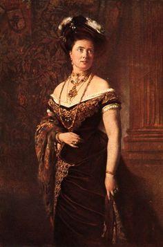 Crown Princess Victoria by Heinrich von Angeli (location unknown to gogm) | Grand Ladies | gogm