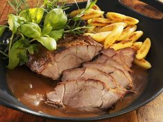 Wild boar roast is a recipe with fresh ingredients from the wild boar category. Try this and other recipes from EAT SMARTER! Pasta Recipes, Beef Recipes, Cooking Recipes, Baileys Recipes, Wild Boar, Honey Garlic Chicken, Other Recipes, No Cook Meals, Roast