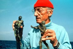 It was just 67 years ago, in 1943, that young French Navy captain Jacques Yves Cousteau, working with an industrial engineer named Emile Gagnon, combined a primitive steel high-pressure air tank with a regulator adapted from airplane engines to create the Aqualung, the first Self Contained Underwater Breathing Apparatus (SCUBA) ♥