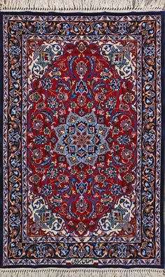 Esfahan Persian Rug Handmade 2 4 X 3 8 Authentic