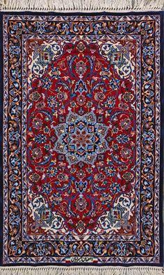 Esfahan Persian Rug, Buy Handmade Esfahan Persian Rug 2 4 x 3 8, Authentic Persian Rug $1,460.00
