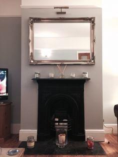 Hinkypunk grey paint, silver mirror
